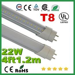 Compra Online Cree llevó la garantía-1,2 m 4 pies T8 22W 2400lm llevó la luz del tubo de 110-240 iluminación Led Cambiar lámpara de tubo fluorescente + 3 años de garantía CE RoHS UL X100