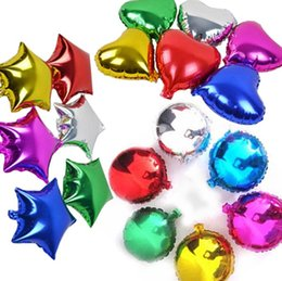 Wholesale Party decoration shaped nylon foil aluminum balloons color assorted inch good quality