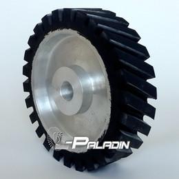 Wholesale 200 mm Diagonal Rubber Wheel Belt Grinder Polisher Contact Wheel for Sanding Belts