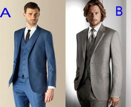 Custom Made Groom Tuxedos Groomsmen Best Man Suit Wedding Groomsman Men Suits Bridegroom(Jacket+Pants+Tie+Vest) (Select Any Style)J321