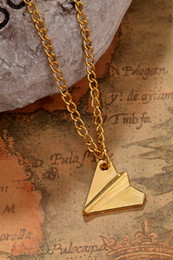 Wholesale 30pc Fantastic New Arrival Hot Sale Hot Fashion One Direction Harry Styles Paper Airplane Necklace Chain Pendant