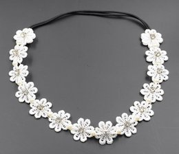 New Women Lace Hairband with Rhinestone Pearl Wedding Hair Accessories Fashion High Quality Hair Jewelry for Wholesale