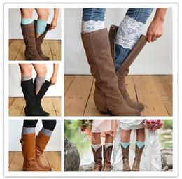 Newly Fashion Stretch Lace Boot Cuffs Womens Autumn & Winter Short Leg Warmers Wedding Bride Chirstmas Children Foot Cover Socks K653