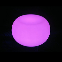 Wholesale CE ROHS bar and lounge nightclub furniture party use colours changing led round side table piece