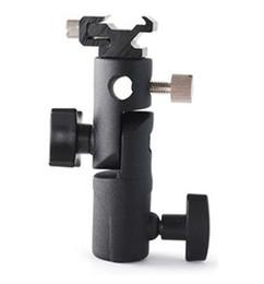 Wholesale-Metal flash light mount lamp holder small e lamp base mount tripod