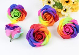 25pcs Multicolor Rose Flower Soap For Wedding Party Birthday Souvenirs Gifts Favor Home Decorate