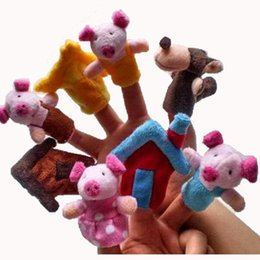 World Fairy Tale-Plush Puppets Three Little Pigs Toys For Children kids Students Educational Talking Props 12set
