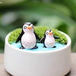 Wholesale 20pcs artificial penguin animal Ornaments fairy garden miniature gnome moss terrarium decor resin crafts bonsai home decor for DIY Zakka
