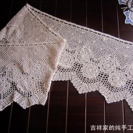 Wholesale new fashion crochet lace as cloth accessories cotton cutout coffee curtain air curtain for home decoration