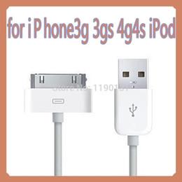 3g usb libre en venta--Al por mayor libre del envío - cable de datos 2.0 cabeza cuadrada de 6 clavijas USB es adecuado para Iphone 3G cable de datos cable de 4 4S Ipad / carga