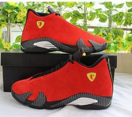 Promotion chaussures de sport pas cher 2016 air Cheap Retro 14 chaussures de basket-ball chaussures dernier coup noir orteil thunder gs rouge suède Varsity Red Oxidized Sport sneaker bottes