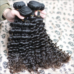 Wholesale Prom Queen Hair Products Brazilian Virgin Curly Hair Deep Wave Weave A Unprocessed Natural Black Human Hair Extension