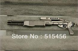 Wholesale Cross Fire Gun Model SPAS Keychain Shot Gun Shape Keys Ring Best Gift For Army Fans CS Game ShotGun quot SPAS quot