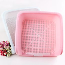 Wholesale Cute small Pet Dog fence mesh Toilet Potty Tray mat training cat dog pad tray Indoor Pet bathroom clean Pee Training Clean Pot