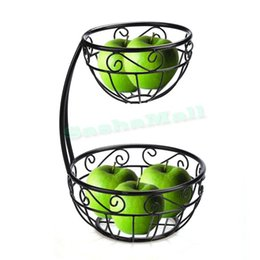 Wholesale High Quality Modern Home Kitchen Accessories Hollow Scroll Arched Tier Vegetables Fruit Server Bowl Tray Plate Basket Holder