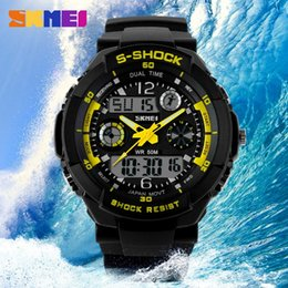 Men Military Watch Sports Watches 2 Times Zone Digital LED Quartz Chronograph Jelly Silicone Swim Diving Watch 5 colors(5pcs lot)