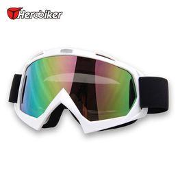 Wholesale HEROBIKER Motocross Off Road Racing Glasses Downhill Dirt Bike Skate Eyewear Winter Ski Snow Motorcycle ATV MTB Riding Goggles