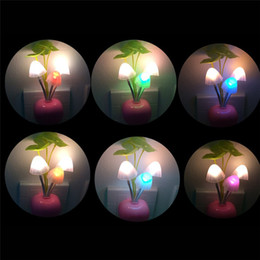 Wholesale Round Head Plug Electric Induction Dream Mushroom Fungus Lamp LED Lamp V LEDs Mushroom Lamp Light Sensor Led Night Light