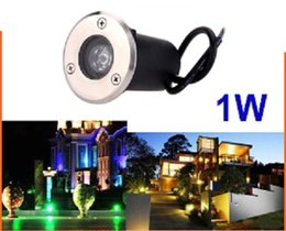 Free shipping 1W Warm White Cool White RGB LED underground light IP68 Buried recessed floor outdoor lamp DC12V