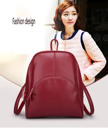 Wholesale 2016 New Arrival Latest Fashion Women Girls Genuine Leather Backpack Stylish School Shoulder Travel Bags Zipper Knapsacks