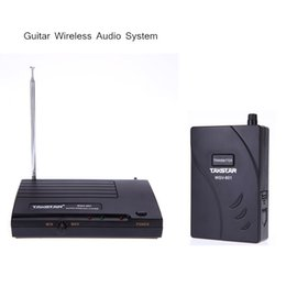 Wholesale For Electric Guitar Bass Wireless Audio System Amplifier Transmission Transmitter Receiver Kit New Arrival I467