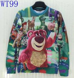 Wholesale 2015 New Fashion men women d sweatshirt funny print Animated cartoon Dog Pig Bear Dinosaurs Cotton hoodies WT99