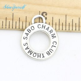Wholesale 20pcs Antique Silver Plated Thomas Club Charms Sabo Pendants for Necklace Bracelet Jewelry Making DIY Handmade Craft x15mm Jewelry making