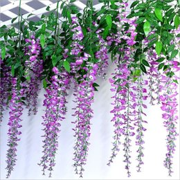 Wholesale The simulation flowers screen printing wisteria vine pudding series of home decoration wedding celebration decoration best selling