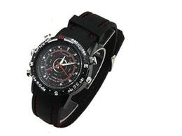 waterproof Sports watch camera 16GB pinhole camera watch mini DVR 720X480 30fps digital video recorder black in retail box dropshipping