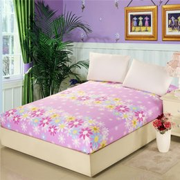 Wholesale Home textile cotton fashion style bed sheets mattress cover bed cover multi color fitted sheet bedspread twin full queen size