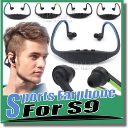 Wholesale Bluetooth Headphone S9 Wireless Stereo Headset Sports Bluetooth Speaker Neckband Earphone Bluetooth With Retail Package With Retail Box