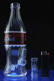Wholesale 10 inches High Tech Glassworks Coca Cola Rig with Red Label mm Male Joint