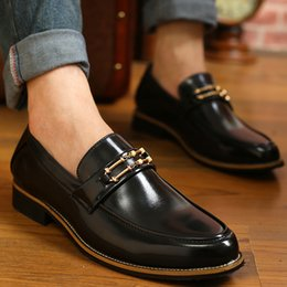 Flats Shoes For England Male Fashion Pointed Toe Casual Single Shoes Man Microfiber Leather Men Business Leather Shoes Retail H448