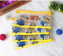 Wholesale Frozen Elsa pencil pouch pen bag Spider Man pencil case minion students pen boxes kids Princess Christmas gift