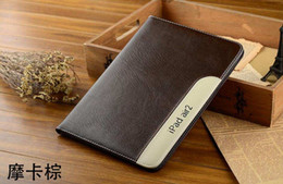 Wholesale Genuine Leather Deluxe business style Case For iPad iPad Air Mini Leather with stand