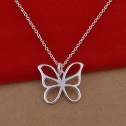 925 sterling silver necklace Korean version of popular butterfly necklace jewelry wholesale trade large spot