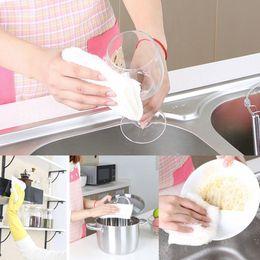 Wholesale Absorbent Bamboo Fiber Wash Bowl Towels Hand Kitchen Dishcloth Dishrag