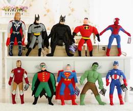 Wholesale Superhero avenger Movie cartoon Stuffed Plush Doll batman hulk thor spiderman Captain Americ Robin Iron Man superman kids toy party gift