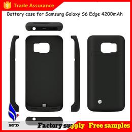 Wholesale Puissance Case Banque Case de sauvegarde de batterie externe de sauvegarde de charge Puissance Case Bank Avec cuir pour Galaxy S6 S6 bord