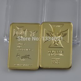 Wholesale ounce gold plated Germany Empire Bank SIGNATURE Building bullion bar metal craft