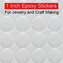Wholesale 1 inch epoxy stickers adhesive circle stickers Self Adhesive Stickers D effect Clear Round Epoxy stickers Domes