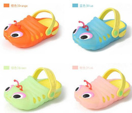 Wholesale 2015 kids summer beach shoes Caterpillar shoe Children sandals slippers baby carpenter worm hole shoes girls Jelly shoes cheap HX