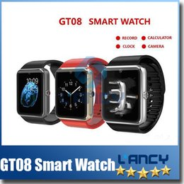 Wholesale 2015 New Smart Bluetooth Watch Aiwatch A8 GT08 Smart watches SIM Intelligent mobile phone watch For android ios win8