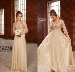 Hot Sexy Long Dress Party Evening Elegant vestidos noiva V-Neck A-Line Chiffon Prom Dress With Crystal 2019