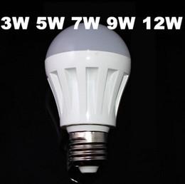 Led Bulb 3W 5W 7W 9W 12W 110V 220V Warm Cold White 2835 smd plastic led lamp LED E14 E27 LED light Bulb
