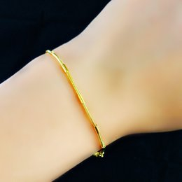 18K Real Gold Plated Bracelet Women Jewelry Gift Free Shipping New Trendy 1.8MM Chunky Snake Chain & Link Bracelet