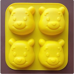 Wholesale DIY thickening with Winnie the Pooh silicone jelly pudding cake baked breast Handmade soap mold cartoon cake tools toys