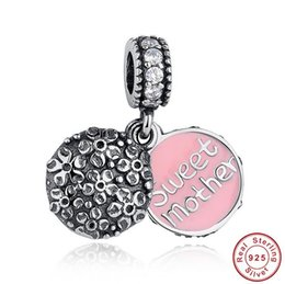 Mother's Day Gift 925 Sterlingg Silver Beads Authentic European Jewelry Fit Pandora Charms Bracelets Mother Necklace DIY Jewelry