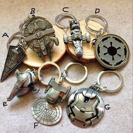 Wholesale 7 Design Children Star Wars Key buckle new Star Wars Airship key ring baby Keychain A