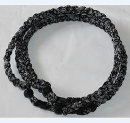 black digital camo titanium braided 3 ropes necklace tornado SPORTS football baseball new tornado baseball necklace